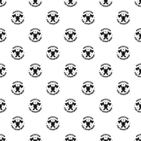Fire protection department pattern seamless vector repeat geometric for any web design