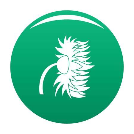 Garden sunflower icon vector green Illustration