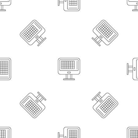 Bowling score table pattern seamless vector repeat geometric for any web design
