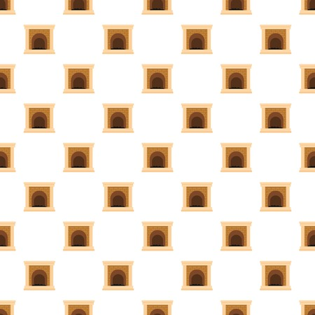 Fireplace for fire pattern seamless vector