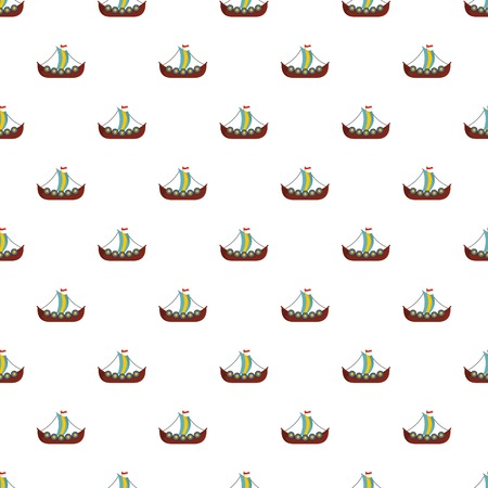 Frigate pattern seamless vector