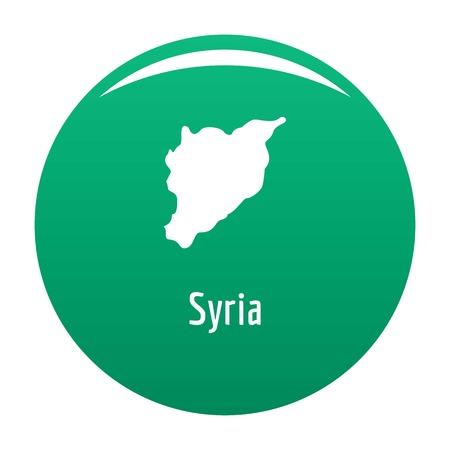 Syria map in black. Simple illustration of Syria map vector isolated on white background Ilustrace
