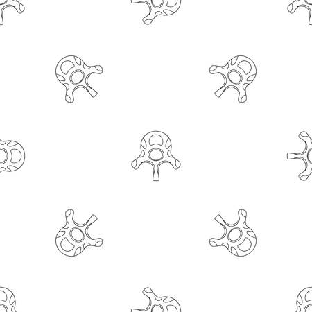 Vertebra disc pattern seamless vector repeat geometric for any web design