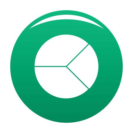 Circle graph icon. Simple illustration of circle graph vector icon for any any design green