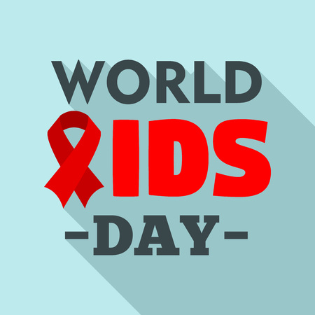 International aids day  set. Flat set of international aids day vector for web design Illustration