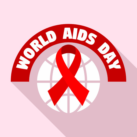 World aids day tolerance   set. Flat set of world aids day tolerance vector   for web design