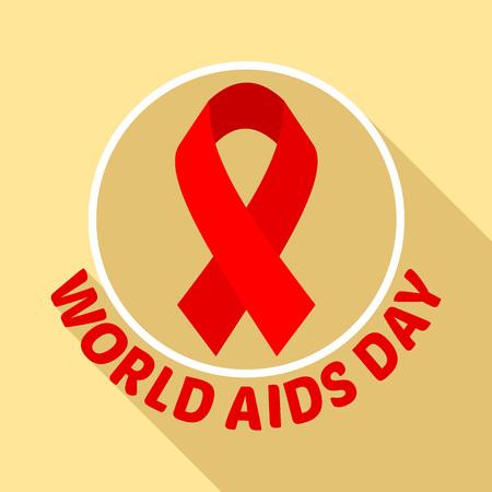 Symbol world aids day set. Flat set of symbol world aids day vector  for web design
