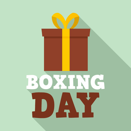 Xmas boxing day   set. Flat set of xmas boxing day vector  for web design
