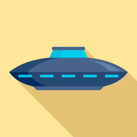 Alien ship icon. Flat illustration of alien ship vector icon for web design