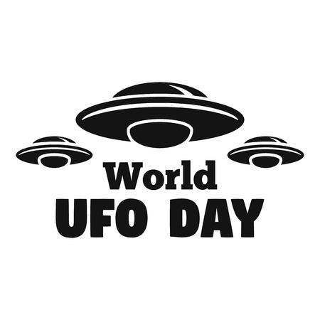 World ufo day   Simple illustration of world ufo day vector   for web design isolated on white background