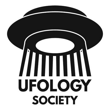 Simple illustration of ufology society fan vector   for web design isolated on white background