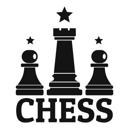 Einfache Illustration des Schachlösungsspielvektors für das Webdesign lokalisiert auf weißem Hintergrund