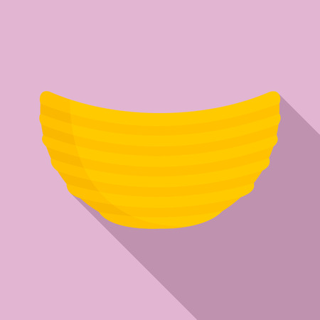 Rippled cheese chips icon. Flat illustration of rippled cheese chips vector icon for web design Ilustração