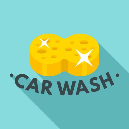 Flat illustration of sponge car wash vector   for web design  イラスト・ベクター素材