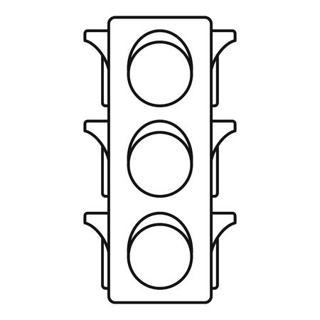 Classic traffic lights icon. Outline classic traffic lights vector icon for web design isolated on white background