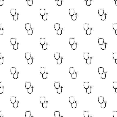 Stethoscope pattern seamless vector repeat geometric for any web design Stock fotó - 127483276