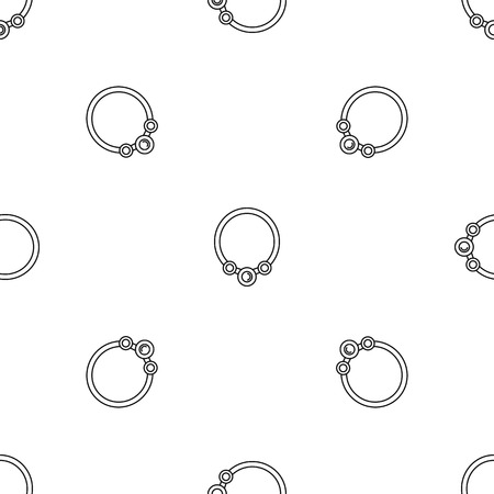Pearl necklace pattern seamless vector repeat geometric for any web design 일러스트