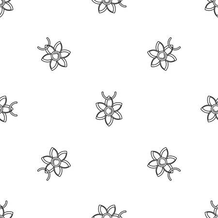 Flower necklace pattern seamless vector repeat geometric for any web design 일러스트