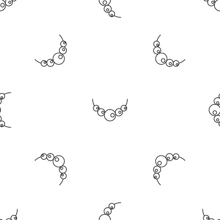 Pearls pattern seamless vector repeat geometric for any web design Illustration