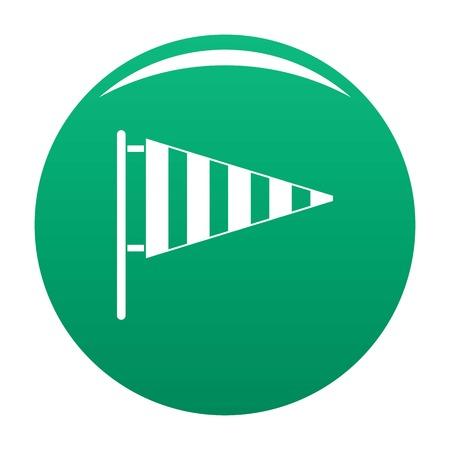 Meteorology windsock icon. Simple illustration of meteorology windsock vector icon for any design green Ilustração