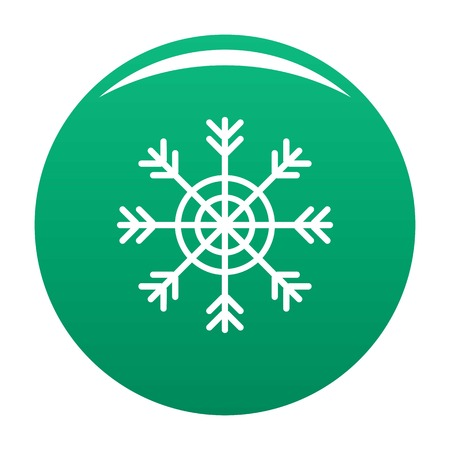 Snowflake icon. Simple illustration of snowflake vector icon for any design green