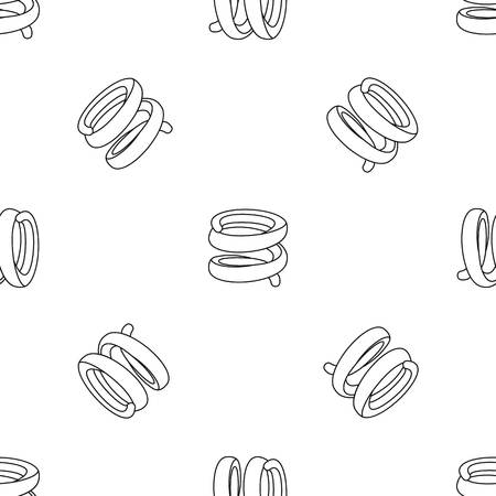 Industrial spring pattern seamless vector repeat geometric for any web design