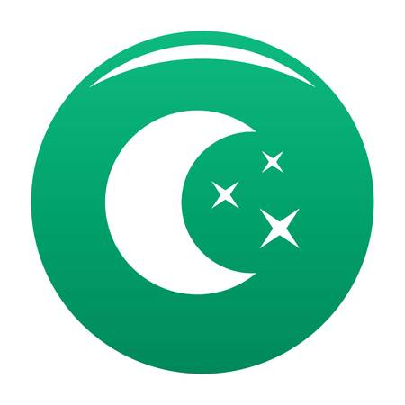 Moon night icon. Simple illustration of moon night vector icon for any design green