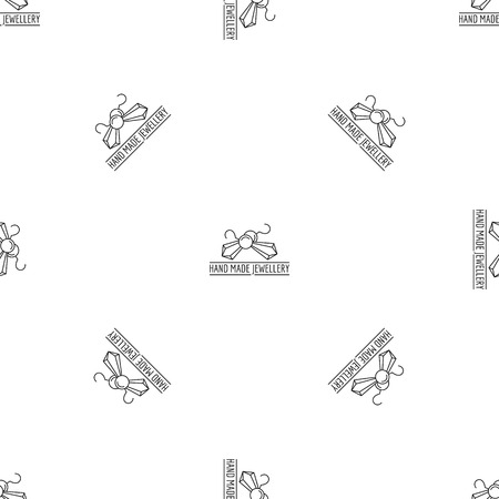 Hand made jewellery pattern seamless vector repeat geometric for any web design