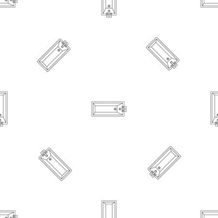 Top view bathtube pattern seamless vector repeat geometric for any web design