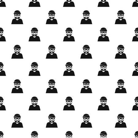 Thief pattern seamless vector repeat geometric for any web design