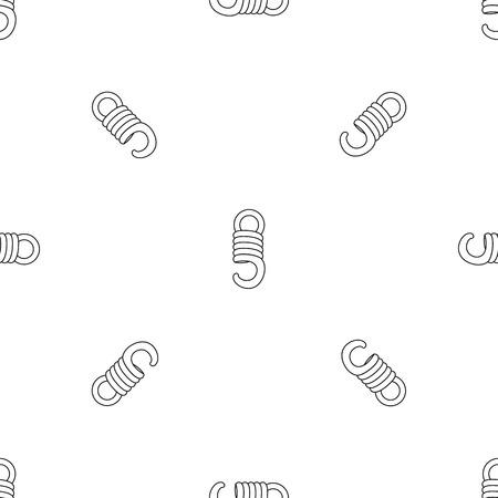 Elastic coil pattern seamless vector repeat geometric for any web design Standard-Bild - 127483447
