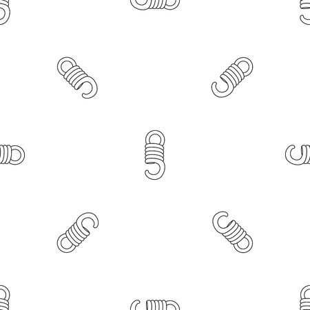 Elastic coil pattern seamless vector repeat geometric for any web design