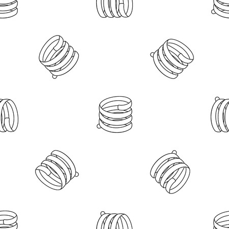 Short spring coil pattern seamless vector repeat geometric for any web design