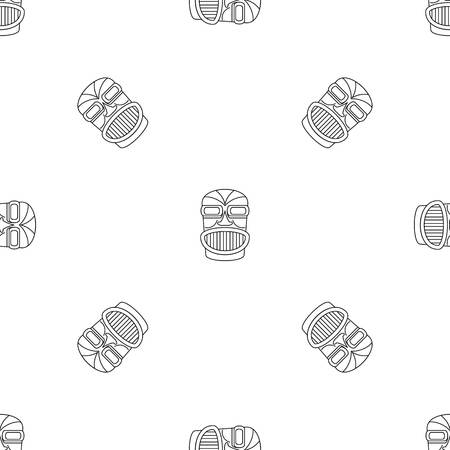 Hawaii idol head pattern seamless vector repeat geometric for any web design