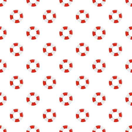 Lifebuoy pattern seamless vector repeat for any web design Illustration