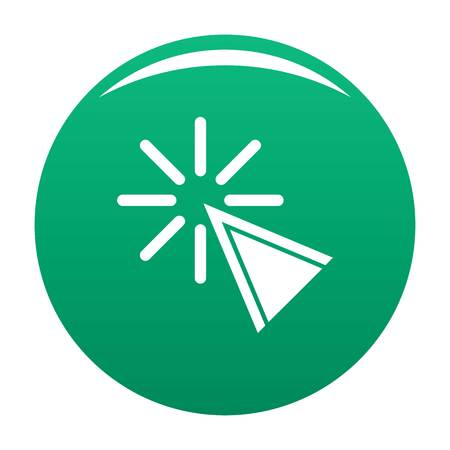Cursor click icon. Simple illustration of cursor click vector icon for any design green