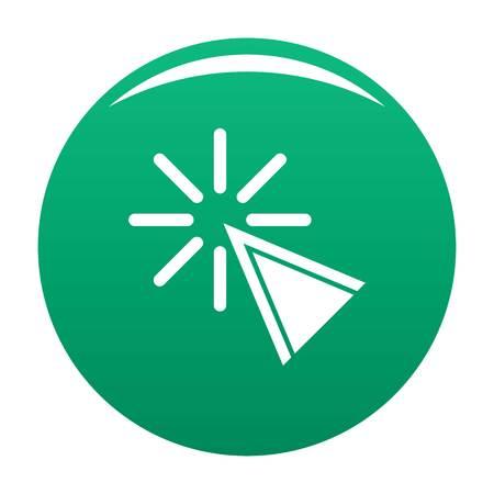 Cursor click icon. Simple illustration of cursor click vector icon for any design green