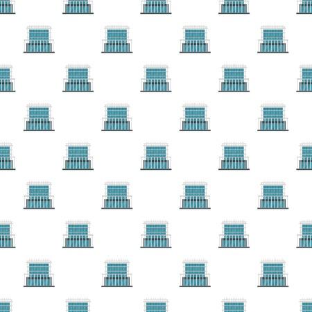 Construction of house pattern seamless vector Ilustracja
