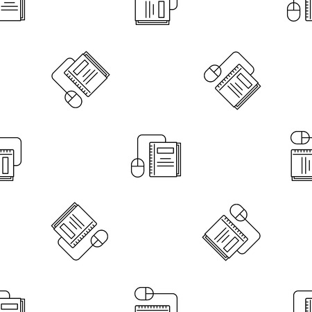 Click on book pattern seamless vector repeat geometric for any web design