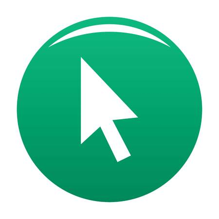Cursor normal element icon. Simple illustration of cursor normal element vector icon for any design green