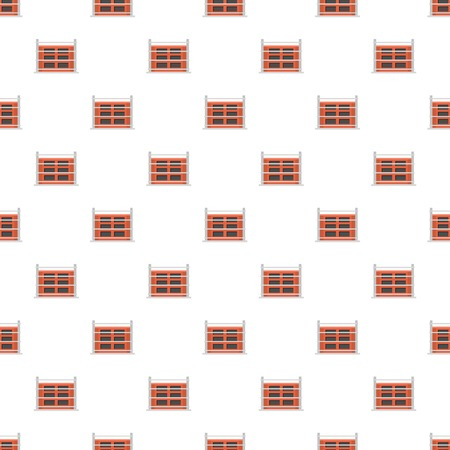 Structure of house pattern seamless vector Ilustracja