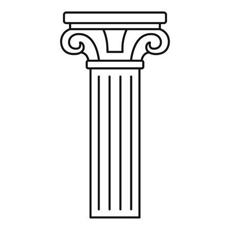 Icône de pilier antique. Contours ancien pilier icône vecteur pour la conception web isolé sur fond blanc