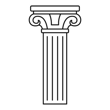 Ancient pillar icon. Outline ancient pillar vector icon for web design isolated on white background