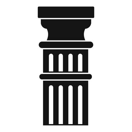 Greek pillar icon. Simple illustration of greek pillar vector icon for web design isolated on white background