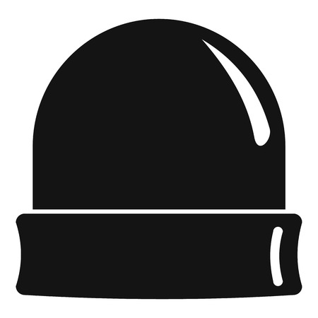 Black beanie icon. Simple illustration of black beanie vector icon for web design isolated on white background