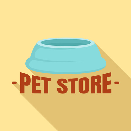 Flat illustration of pet store plastic plate vector for web design