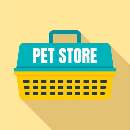 Flat illustration of pet store basket vector