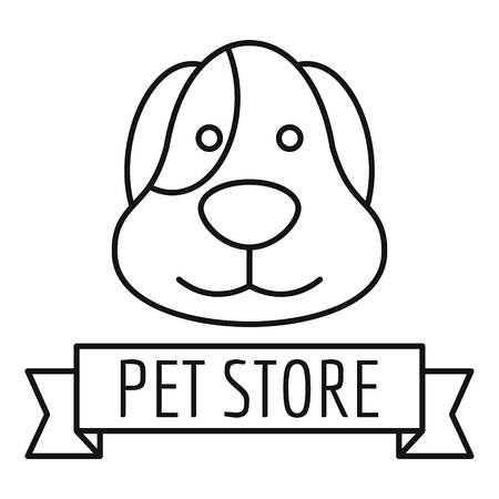 Puppy dog store   outline style