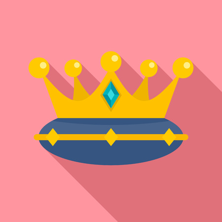 Queen crown icon. Flat illustration of queen crown vector icon for web design