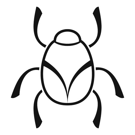 Golden bug icon, simple style